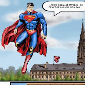 Superman v Praze