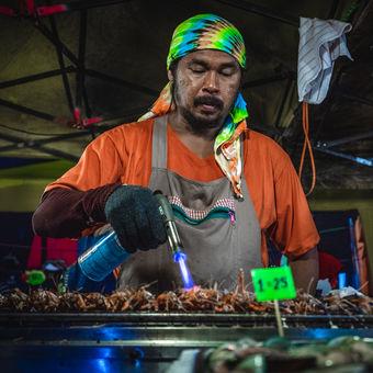 krevety a noční trhy