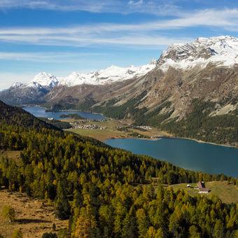 Údolí Engadinu - Švýcarsko