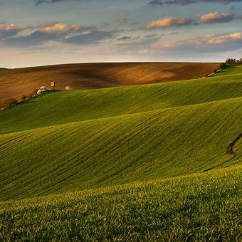 Moravská krajina při západu