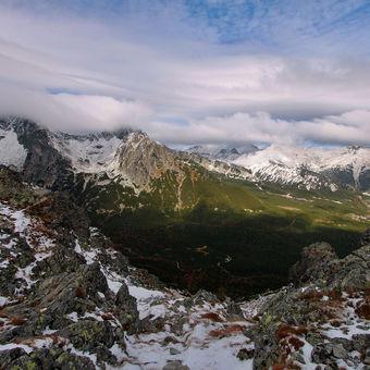 Panorama z Veľké Svišťovky do údolí Zeleného plesa