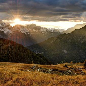 Západ slunce v passo Giau