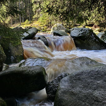 Řeka Vydra nad Turnerovou chatou