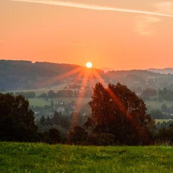 Východ slunce nad Jabloncem :)