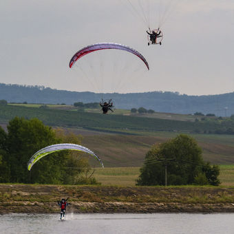 Paragliding s chlazením.