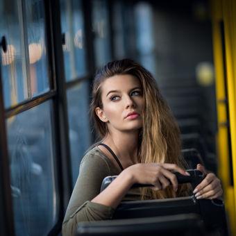 V noční tramvaji