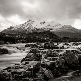horská řeka, Skye, Skotsko