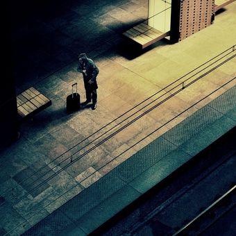 Jedu domů po trati...