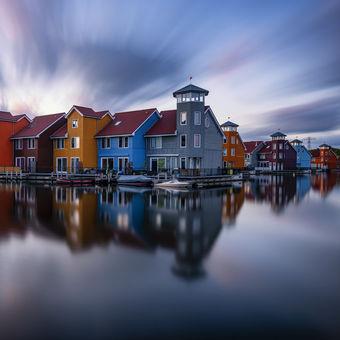 Barevné bydlení Groningenu :-)