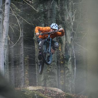 Downhill ride.