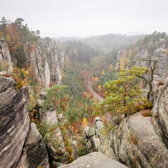Podzimní Prachovské skály, Jičín, Český ráj