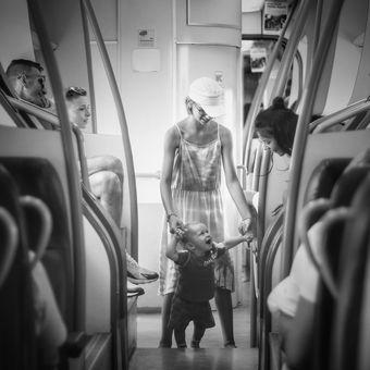 Ve vlaku...