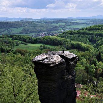 Pohled z Tisských skal.
