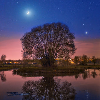 Měsíc a Venuše