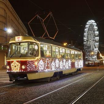 Brněnská vánoční šalina.