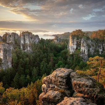 Moje fotografie roku 2020 - východ slunce v Hruboskalsku