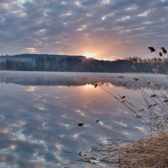 Rokytnický rybník - východ slunce