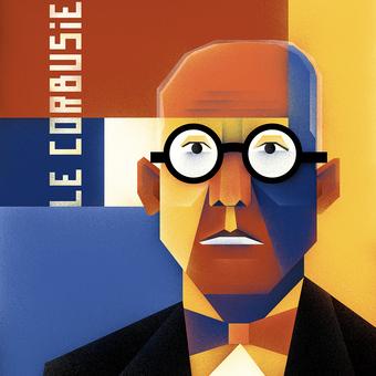 Portrét Le Corbusier