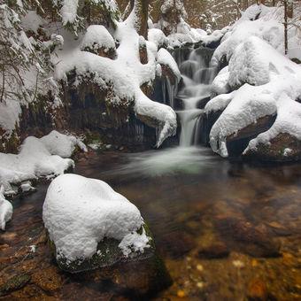 Zimní šumavský potok
