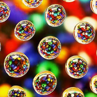 barevné kapičky