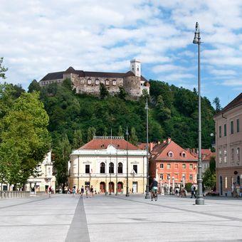 Výhled na Lublaňský hrad
