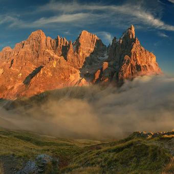 Podzimní večer pod Pale di San Martino