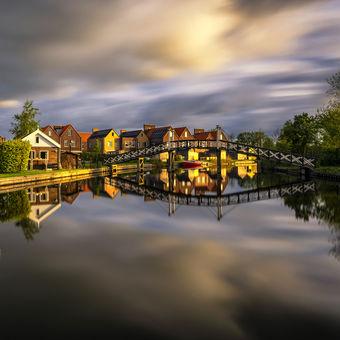 Hindeloopen, malebné  holandské přístavní městečko :-)