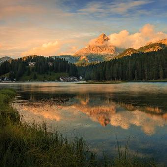 Jezero Misurina a Tre Cime