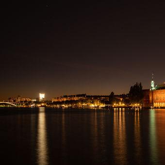 Stockholm v noci