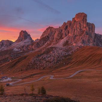 Sunset Passo Giau