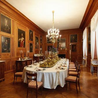Soukromá jídelna Klemense Metternicha na zámku Kynžvart