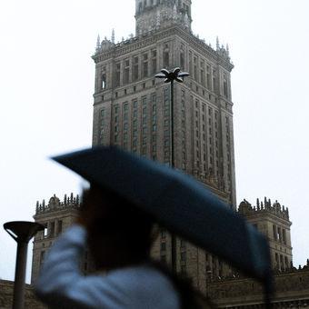 Déšť ve Varšavě