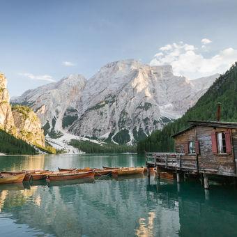 Lago di Braies, Trentino, Dolomity, Italy