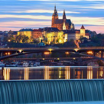 Pražský hrad ze Štvanice