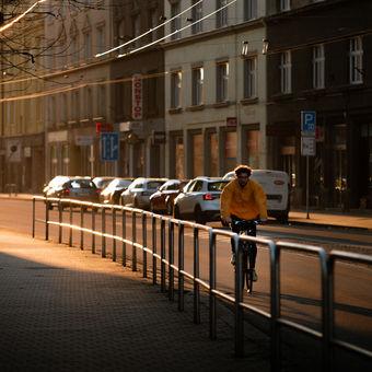 Březnový západ slunce v Ostravě