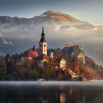 Podzimní jezero Bled