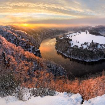 Solenická podkova v zimě