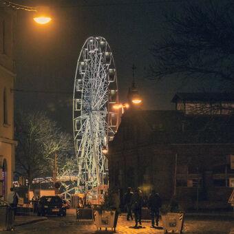 zestařená fotografie z adventní Olomouce