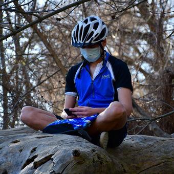 Cyklista na strome