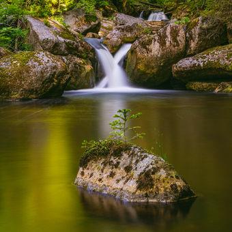Křížový vodopád na Černé Desné