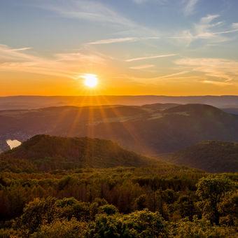 Západ slunce na Českým Středohořím