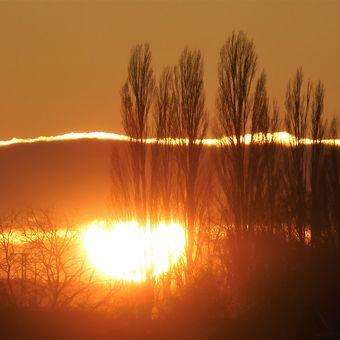 Včerejší západ slunce