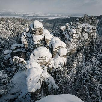 Po třech letech přišel sníh do Českého ráje