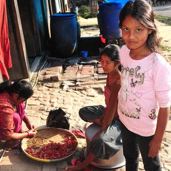 V Nepálské vesnici
