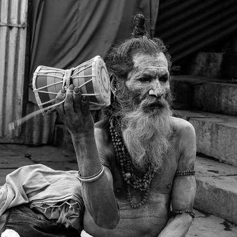 Sadhu z Varanasi