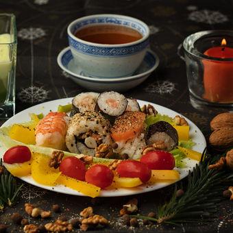 Vánoční sushi