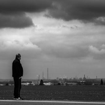 Ostrava na konci zimy