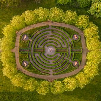 Labyrint v platanech