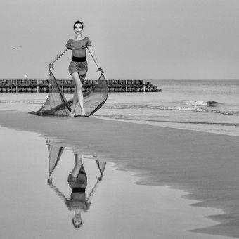 Vintage - zábava u moře