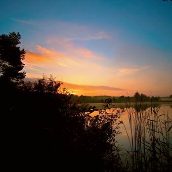 ráno na Drahotínském rybníku